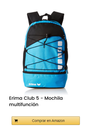 Erima Club 5 - Mochila multifunción con compartimento inferior