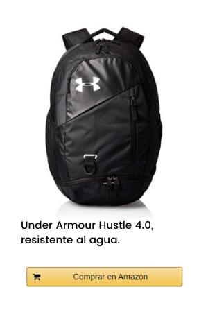 Under Armour Hustle 4.0, accesorio deportivo, mochila para portátil resistente al agua unisex