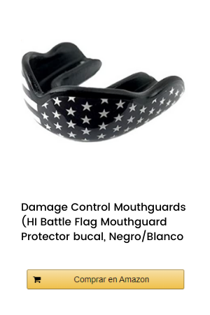 Damage Control Mouthguards (HI Battle Flag Mouthguard Protector bucal, Negro/Blanco
