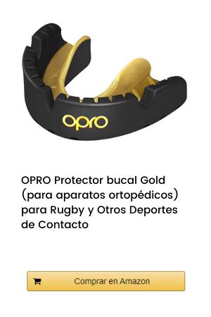 OPRO Protector bucal Gold (para aparatos ortopédicos) para Rugby, Hockey, MMA, Boxeo, Baloncesto y Otros Deportes de Contacto