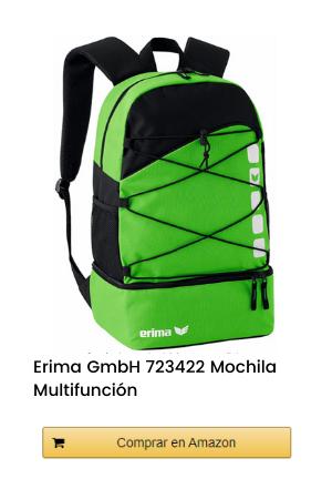Erima GmbH 723422 Mochila Multifunción con Compartimento Inferior, Verde/Negro, 1
